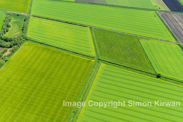Green Field Patchwork from the Air - Aerial Photography By Simon Kirwan www.the-lightbox.com