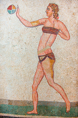 The Bikini Girls. Ancient Roman mosaics at the Villa Romana del Casale, Sicily, Italy (Paul Williams)