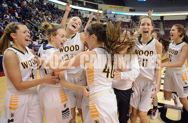 Archbishop Wood celebrates after defeating Villa Maria to win the girls basketball PIAA Class AAA state championship Saturday March 19, 2016 at the Giant Center in Hershey, Pennsylvania (Photo By William Thomas Cain) (William Thomas Cain/Cain Images)