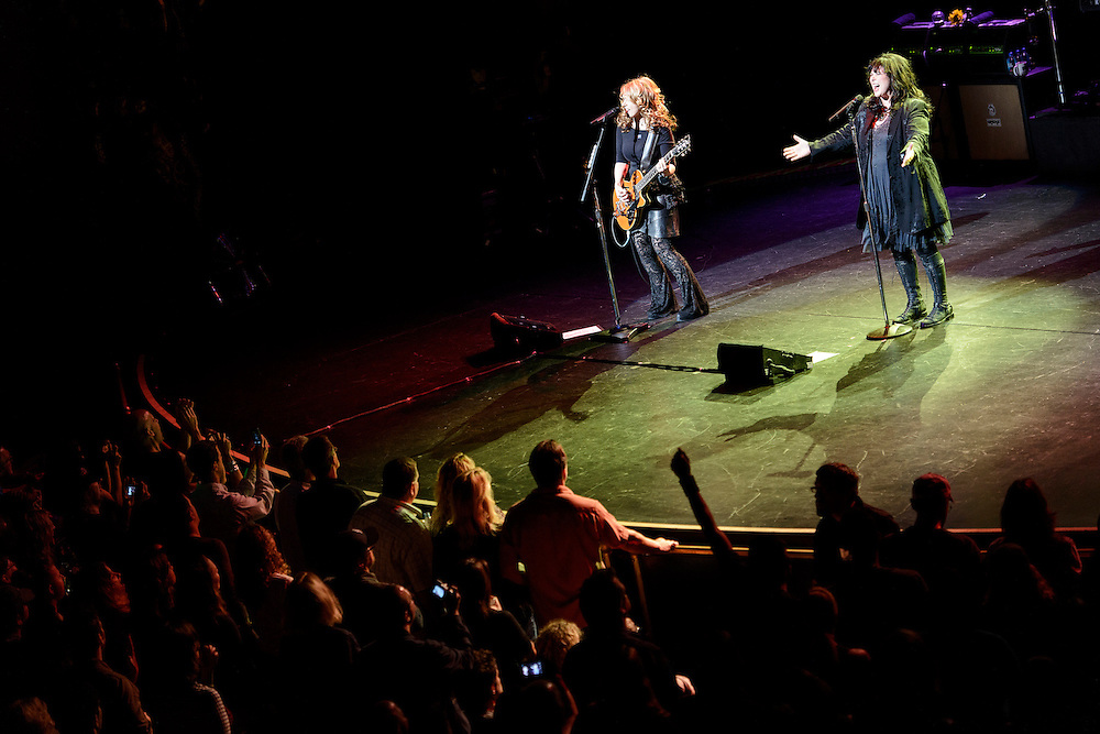 Photos of the band Heart performing live at the Beacon Theatre, NYC. October 3, 2012. Copyright © 2012 Matthew Eisman. All Rights Reserved. (Photo by Matthew Eisman/WireImage)