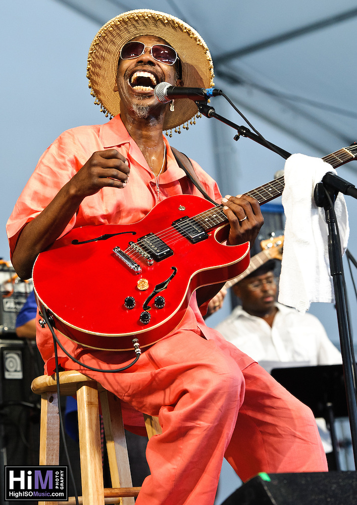 "Walter ""Wolfman"" Washington playing at Jazz Fest 2011 in New Orleans, LA on day 6. (Golden G. Richard III)"