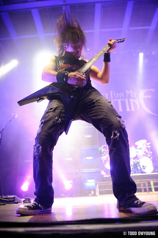 Photos of Welsh metal band Bullet For My Valentine performing at the Pageant in St. Louis on May 21, 2010. (© Todd Owyoung)