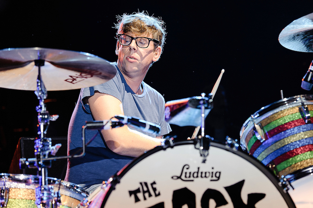Photos of the band The Black Keys performing at Catalpa Music Festival on Randall's Island, NYC. July 28, 2012. Copyright © 2012 Matthew Eisman. All Rights Reserved. (Photo by Matthew Eisman/ Getty Images)