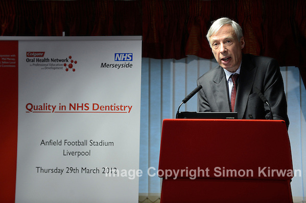 Earl Howe Addresses Quality in NHS Dentistry Conference, Anfield, Liverpool 29.03.12 - photo by Simon Kirwan
