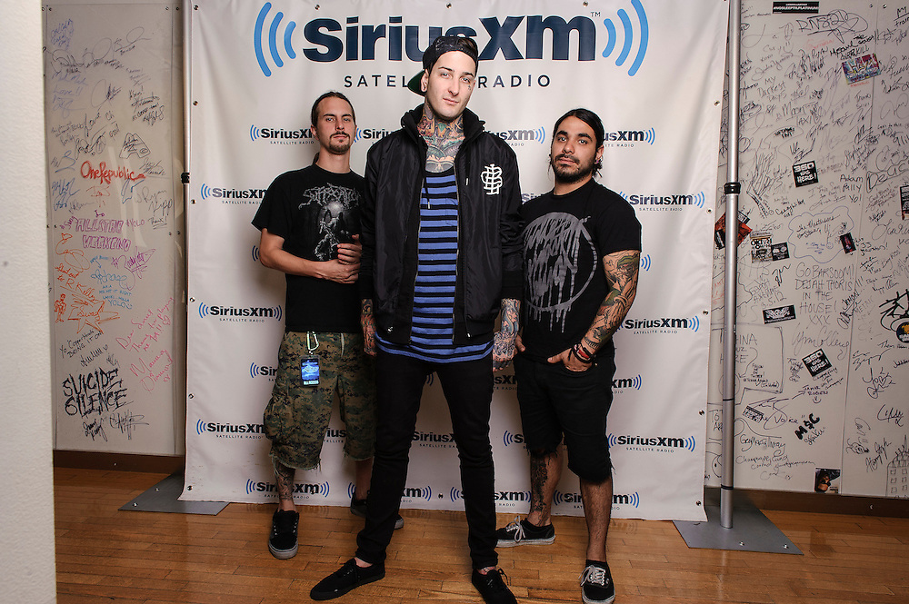 Portraits of the metal band Suicide Silence at SiriusXM Studios, NYC. August 16, 2012. Copyright © 2012 Matthew Eisman. All Rights Reserved. (Photo by Matthew Eisman/ Getty Images)
