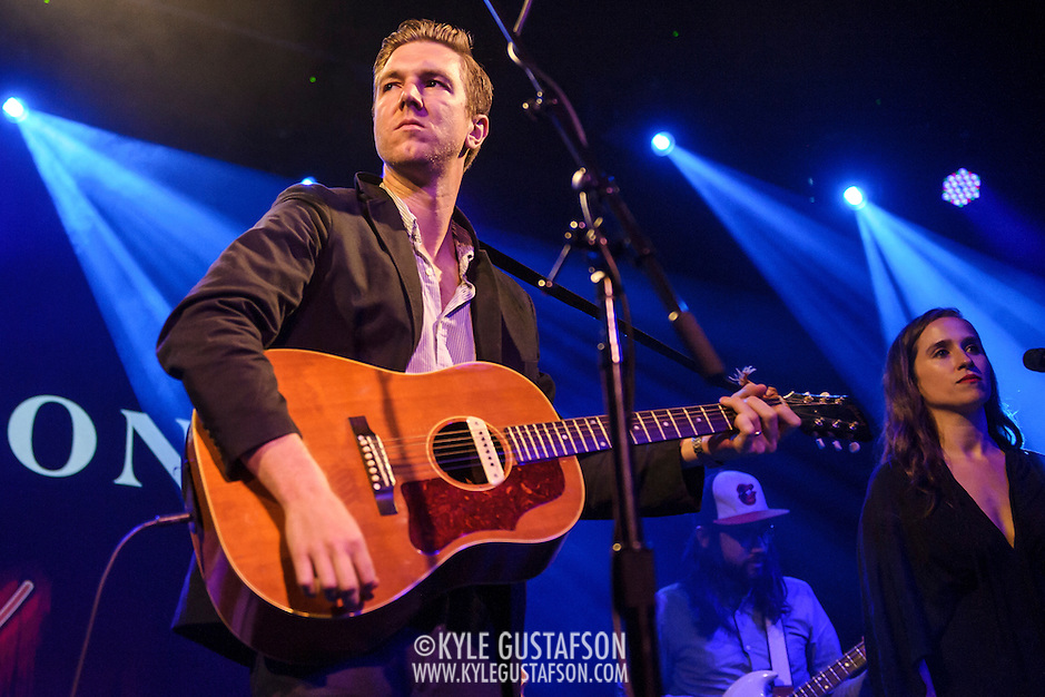 "WASHINGTON, DC - July 13th, 2014 - Hamilton Leithauser (left) performs at The Hamilton in Washington, D.C. Leithauser, a D.C. native, released his first solo album this year while his former band, The Walkmen, are on a self-proclaimed ""extreme hiatus."" (Photo by Kyle Gustafson / For The Washington Post) (Kyle Gustafson/For The Washington Post)"