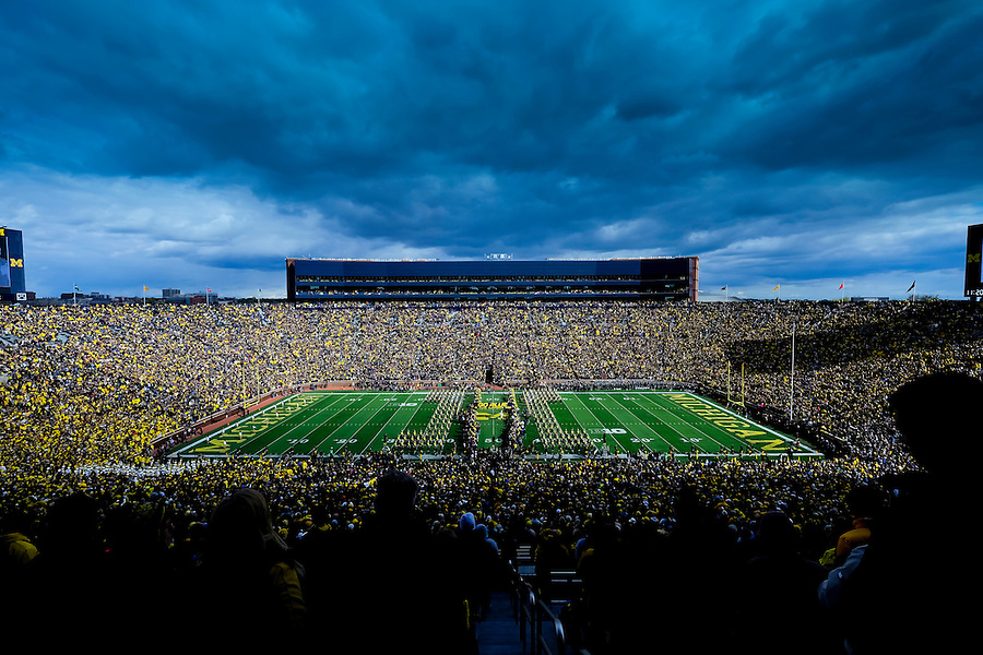 Oct 17, 2015; Ann Arbor, MI, USA; General view  prior to the game between the Michigan Wolverines and the Michigan State Spartans at Michigan Stadium. Mandatory Credit: Rick Osentoski-USA TODAY Sports (Rick Osentoski/Rick Osentoski-USA TODAY Sports)