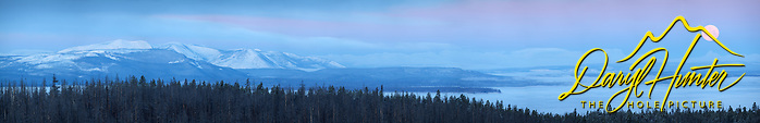 Super Moon, Sunrise, Yellowstone Lake, Yellowstone National Park.  A very large panorama that can be printed nine feet wide at 300 DPI. (© Daryl L. Hunter - The Hole Picture/Daryl L. Hunter)