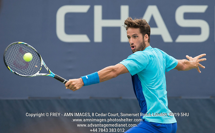 Feliciano Lopez Tennis - US Open  - Grand Slam -  Flushing Meadows  2013 -  New York - USA - United States of America - Monday 26th August 2013.  © AMN Images, 8 Cedar Court, Somerset Road, London, SW19 5HU Tel - +44 7843383012 mfrey@advantagemedianet.com www.amnimages.photoshelter.com www.advantagemedianet.com www.tennishead.net (FREY - AMN IMAGES)