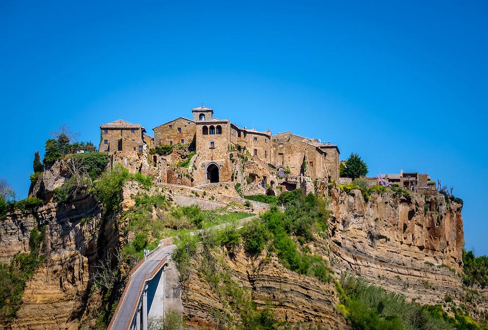 CIVITA DI BAGNOREGIO ITALY - CIRCA MAY 2015: View of Civita di Bagnoregio. (Daniel Korzeniewski)