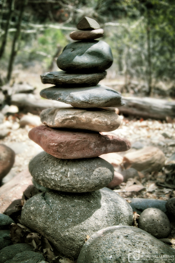 Photo of rock cairns that can be seen while exploring the trail to Buddha Beach at Crescent Moon Ranch in Sedona, AZ. (Jennifer Rondinelli Reilly/Photo by Jennifer Rondinelli Reilly.)