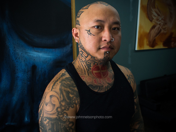 Kani Xiong is a tattoo artist in Appleton, Wisconsin (John Nelson/photo by www.johnnelsonphoto.com)