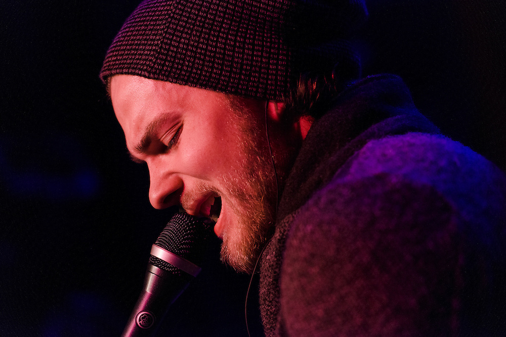 Photos of the Icelandic musician Asgeir Trausti performing live at The Slipper Room, NYC. March 11, 2013. Copyright © 2013 Matthew Eisman. All Rights Reserved. (Matthew Eisman/Photo by Matthew Eisman)
