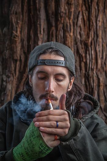 "Artist traveler Kevin ""J"" Ryan in downtown Santa Rosa, CA  kryan022@gmail.com (© Clark James Mishler)"