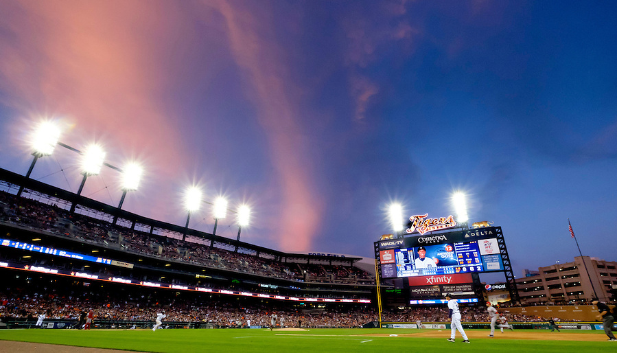 Jun 16, 2015; Detroit, MI, USA; General view during the game between Cincinnati Reds and Detroit Tigers at Comerica Park. Mandatory Credit: Rick Osentoski-USA TODAY Sports (Rick Osentoski/Rick Osentoski-USA TODAY Sports)