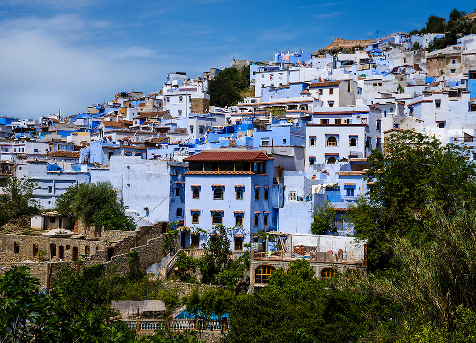 CHEFCHAOUEN, MOROCCO - CIRCA APRIL 2017: View of Chefchaouen. This is a popular tourist destination in Morocco. (Daniel Korzeniewski)