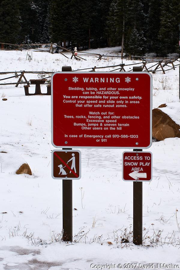 Winter Play Area, Hidden Valley, Rocky Mountain National Park. (David J Mathre)