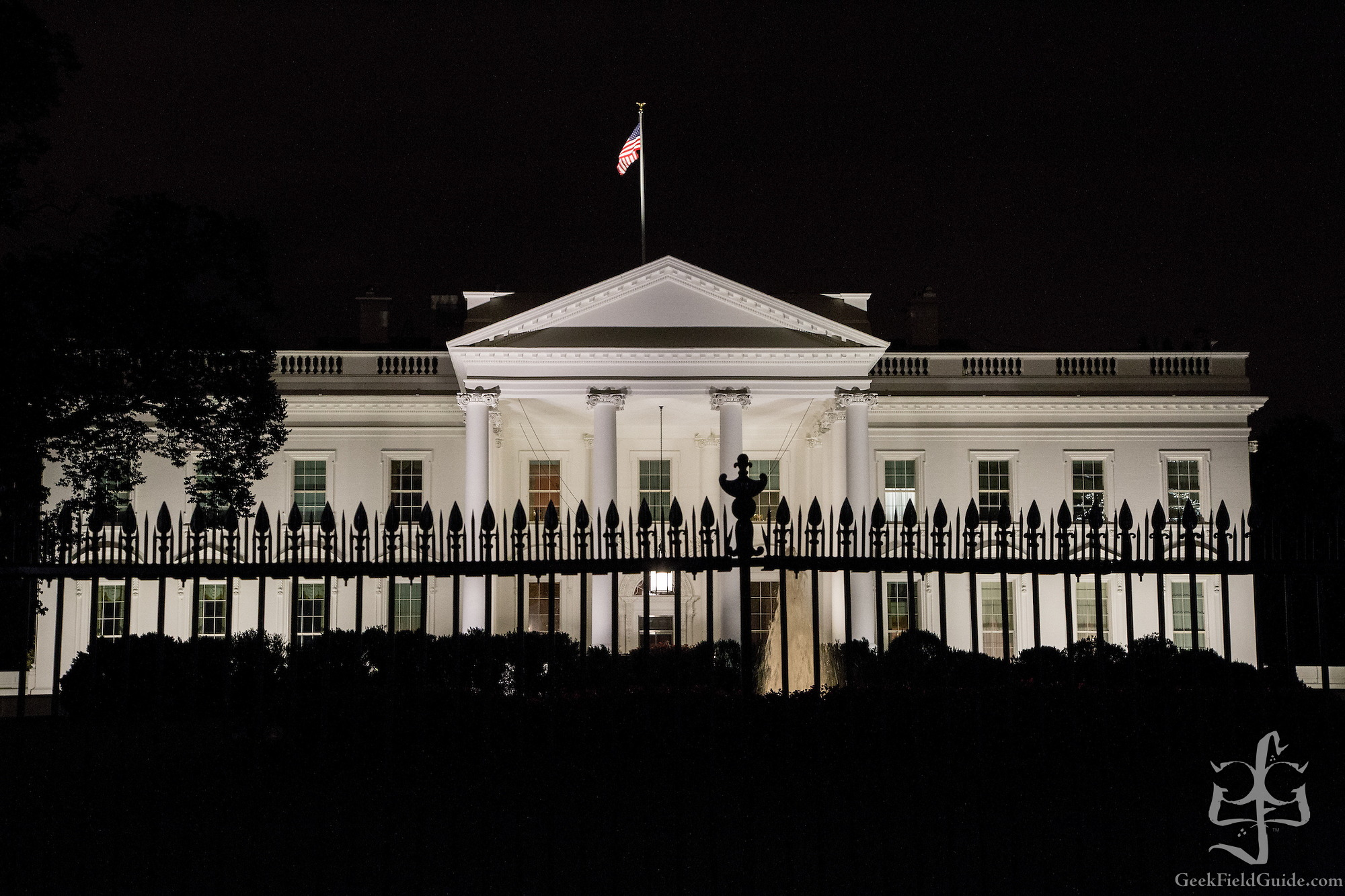 The White House at night. Washington, D.C. (Warren Schultz)
