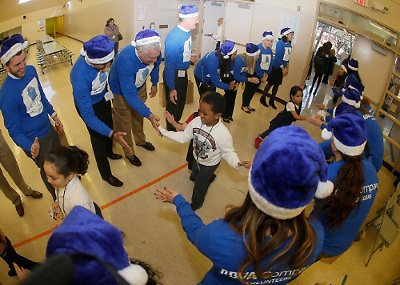 Students get toy surprise from BBVA Compass Foundation