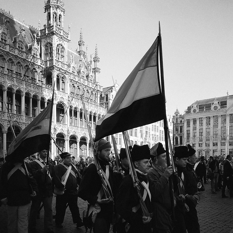 Independence Day Procession at Grote Markt, Brussels