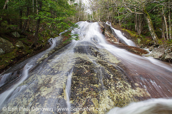 Waternomee Brook Cascades along Waternomee Brook, a tributary of Lost River, in Kinsman Notch of Woodstock, New Hampshire USA during the spring months