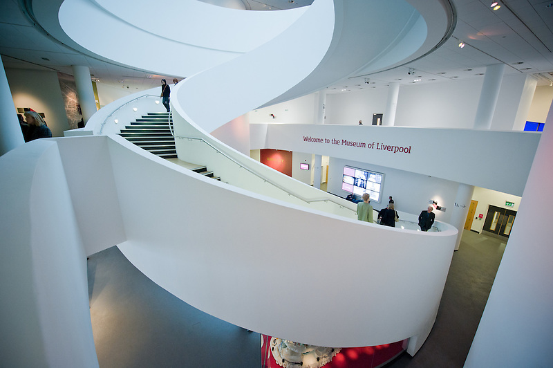 The staircase inside the Museum of Liverpool. (Pete Carr)