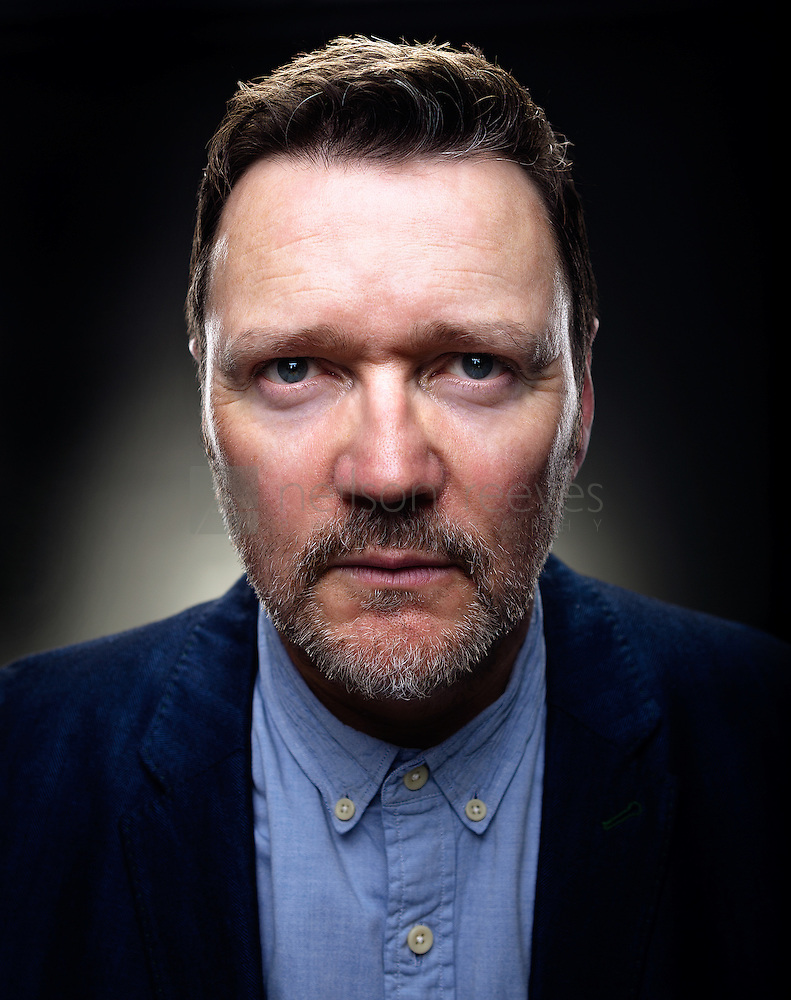 In this portrait of Ian Puleston-Davies the photographer has used wide angle lens to distort perspective and elongate the Actors face for a dramatic intense look (Colin Boulter)