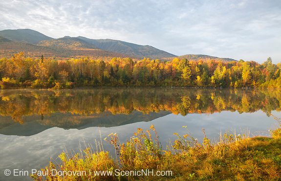 Northern Presidential Range from Durand Lake in Randolph, New Hampshire.