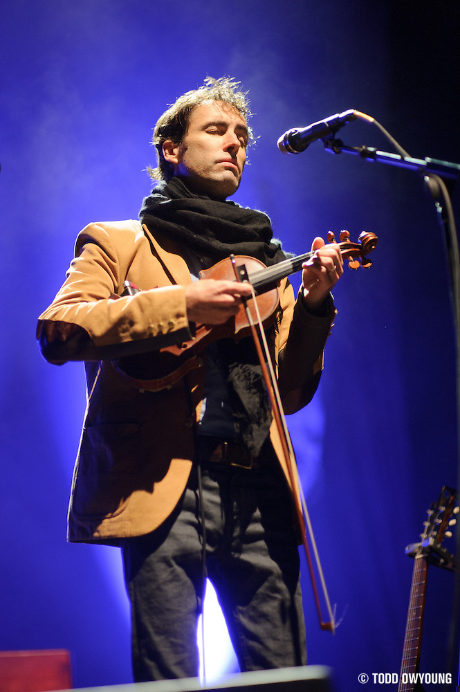 Andrew Bird performing at the Pageant in St. Louis, Missouri on March 22, 2012. (Todd Owyoung)
