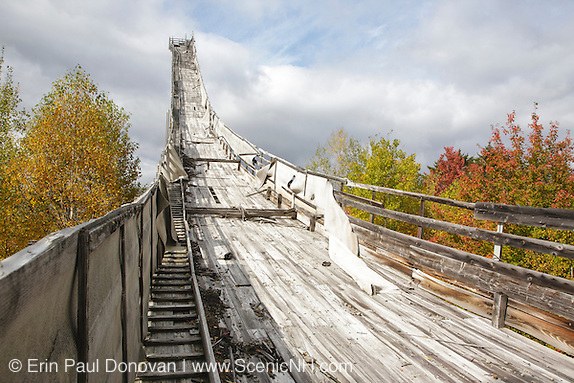 Nansen Ski Jump in Milan New Hampshire USA. This jump was constructed in 1936 and in 1938 Olympic Trials were held here. The jump was closed in 1988.