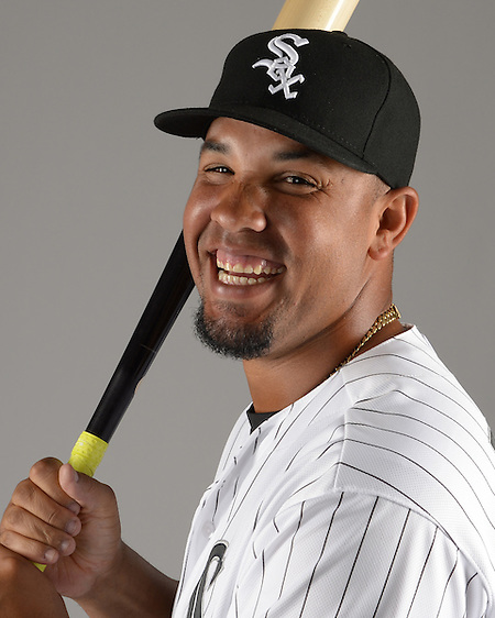 GLENDALE, ARIZONA - FEBRUARY 27: Jose Abreu #79 of the Chicago White Sox poses for a portrait during photo day on February 27, 2015 at Camelback Ranch in Glendale Arizona. (Photo by Ron Vesely) Subject: Jose Abreu (Ron Vesely)