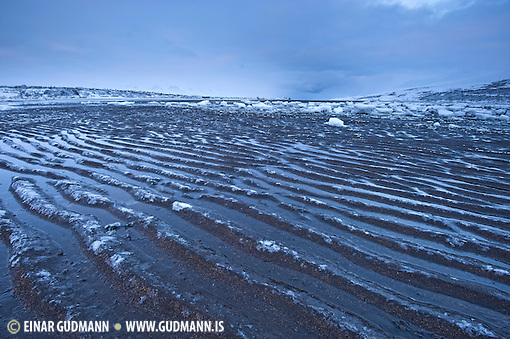 Ice and darkness near Akureyri. (Einar Gudmann)