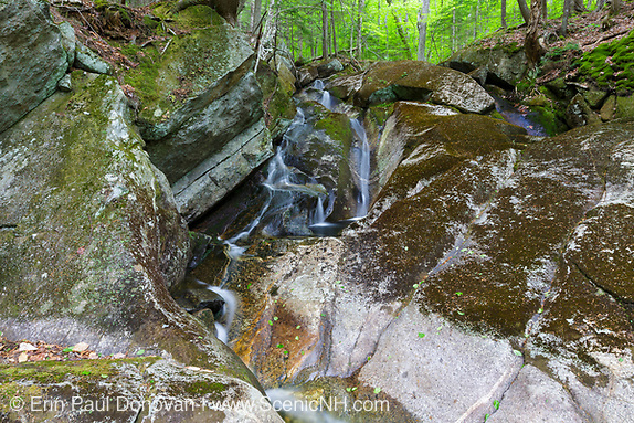 Earth Day, a small cascade on a tributary of Lost River in Kinsman Notch in North Woodstock, New Hampshire during the spring months.