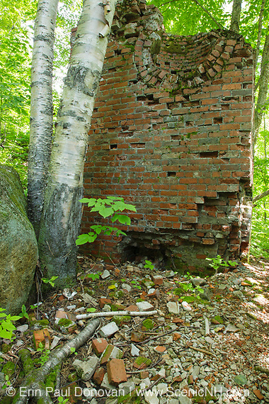 Remnants of the Livermore Mill which was located along the Sawyer River Railroad logging line in Livermore, New Hampshire USA. This was a logging railroad that operated from 1877-1928.