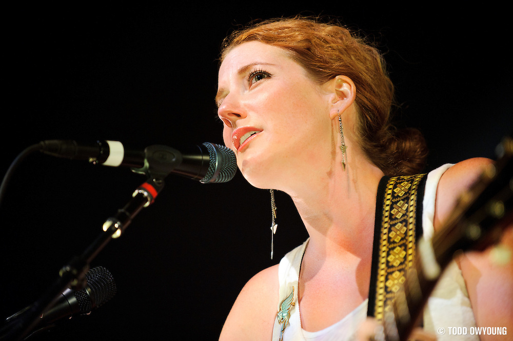 Kathleen Edwards performing in support of Bon Iver at the Pageant in St. Louis, Missouri on August 20, 2011. © Todd Owyoung. (Todd Owyoung)