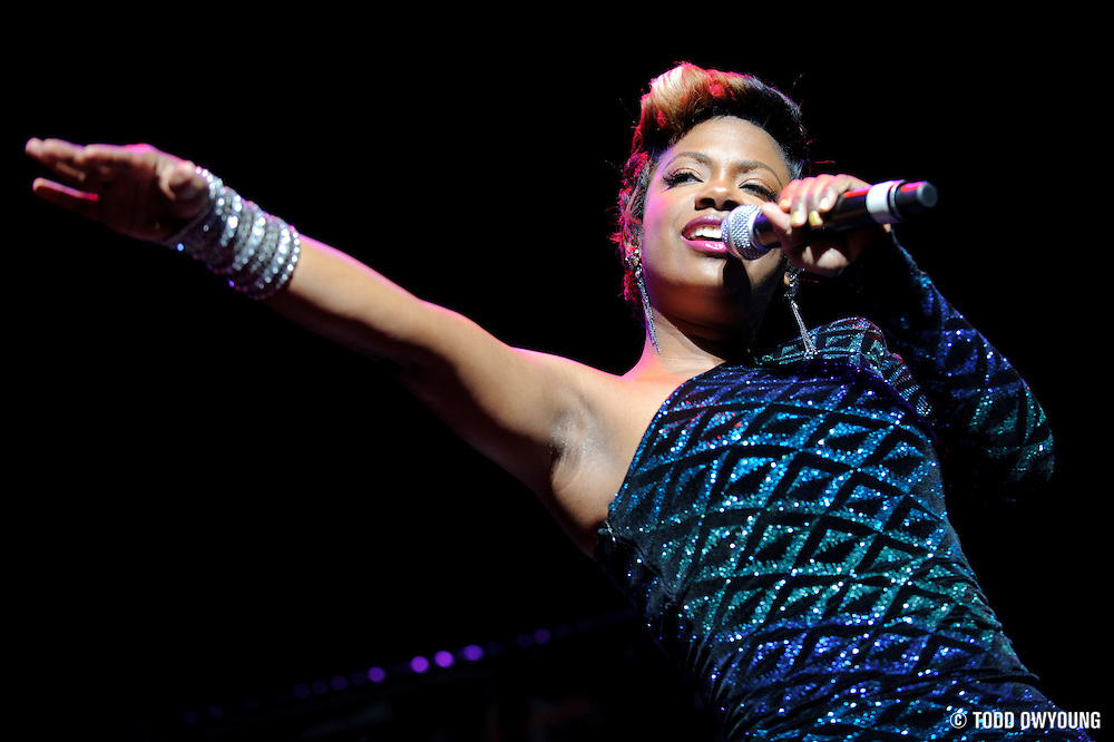 Singer Kandi performing at the Fox Theater in St. Louis on January 1, 2011 (TODD OWYOUNG)