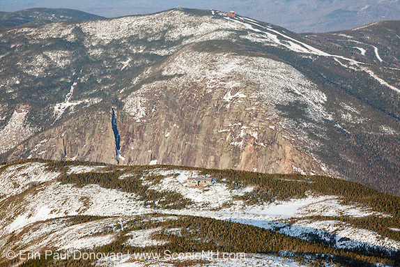 Cannon Mountain from Greenleaf Trail, near the summit of Mount Lafayette, in New Hampshire.