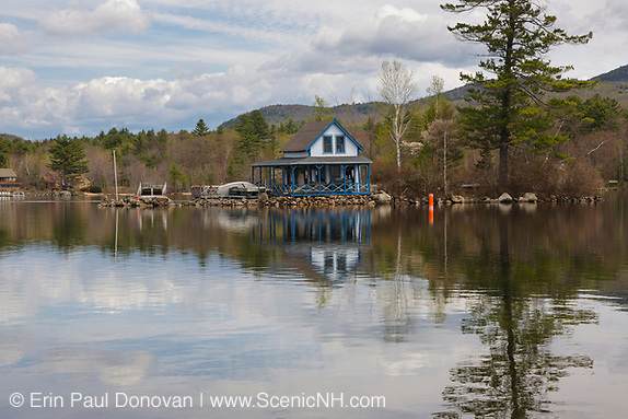 Newfound Lake from the shore of Paradise Point Nature Center in Hebron, New Hampshire.