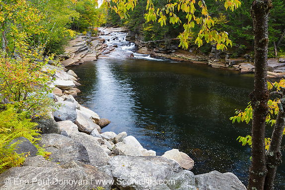 Lower Ammonoosuc Falls on the Ammonoosuc River in Carroll, New Hampshire