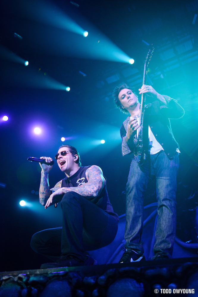 Avenged Sevenfold performing at Uproar Festival at Verizon Wireless Amphitheater in St. Louis on September 25, 2011. © Todd Owyoung. (Todd Owyoung)