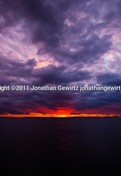 The sun rises over Virginia Key just East of Miami. (Jonathan Gewirtz)