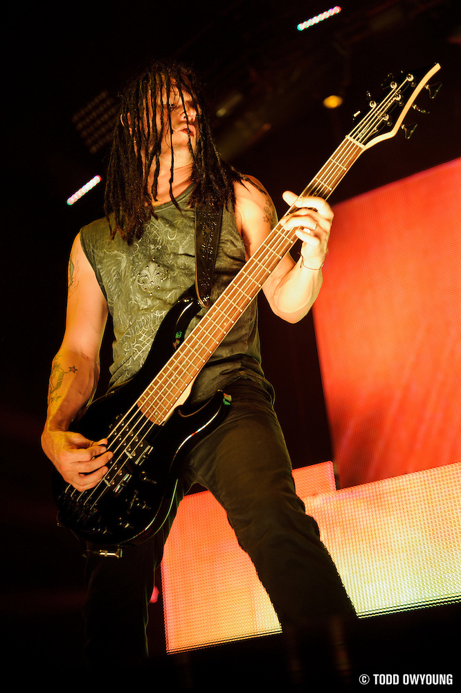 performing on the Mayhem Festival at Verizon Wireless Amphitheater in St. Louis, Missouri on July 19, 2011. © Todd Owyoung. (Todd Owyoung)