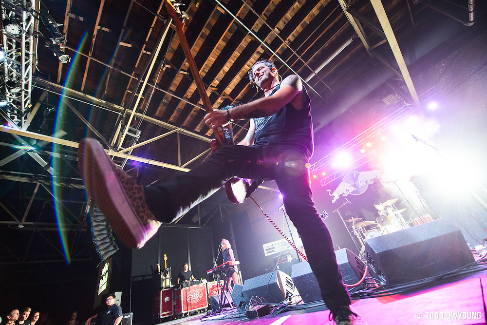 The Airbourne Toxic Event performs at the Marathon Music Works as part of the Red Bull Sound Select in Nashville, Tennessee, USA, 27 July 2013. (Todd Owyoung)