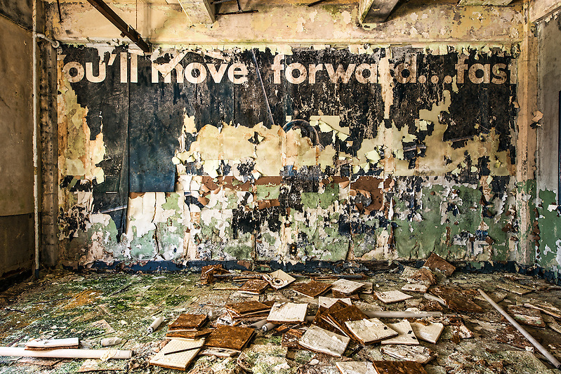 """The Abandoned """"White Hall"""" at Chanute Air Force base in Rantoul, IL. (Walter Arnold)"""