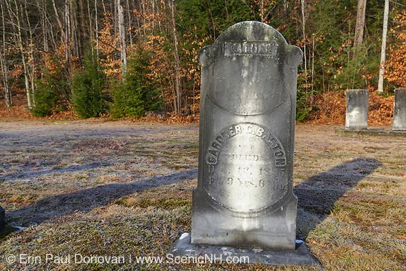 The headstone of Gardner G. Baston (1816-1895) at Woodstock Cemetery in Woodstock, New Hampshire