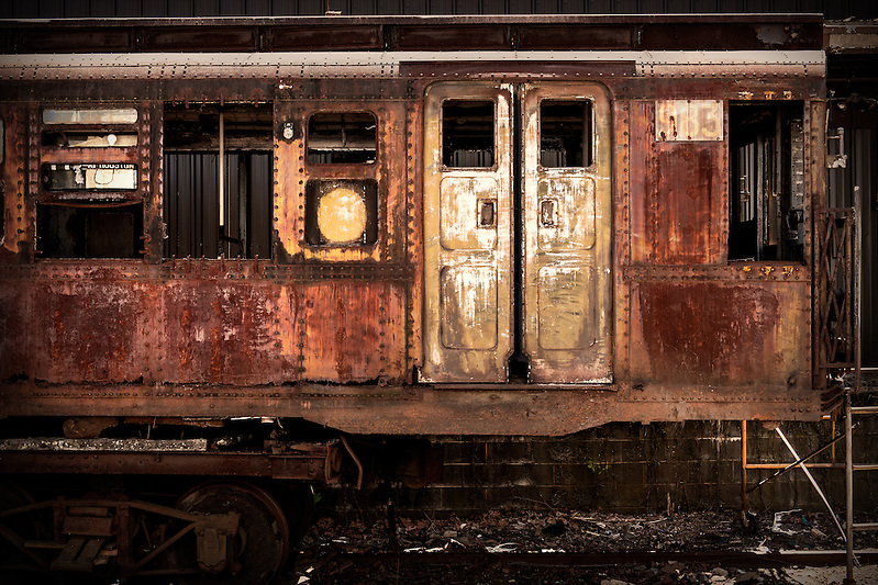 The Coney Island 983 vintage subway car from New York City. The American Car & Foundry Co built subway car no. 983 in 1935. The car is more than 60 feet long and weighs just under 84,000 pounds. The car was taken out of service in 1975. (Walter Arnold)