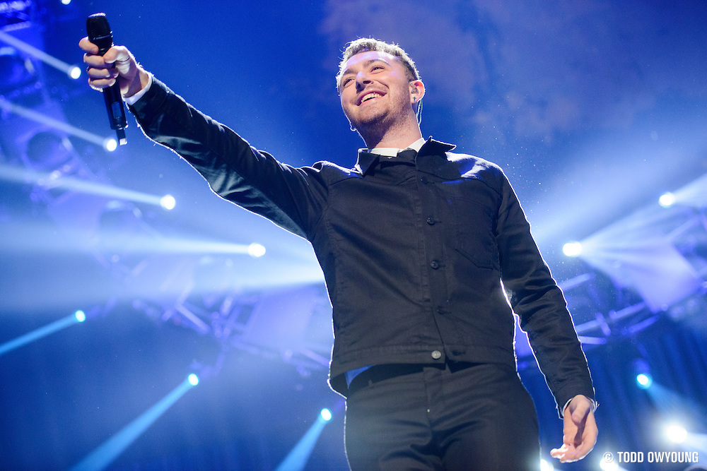 Sam Smith performing at the iHeartRadio Music Festival in Las Vegas on September 19, 2015. (Todd Owyoung)