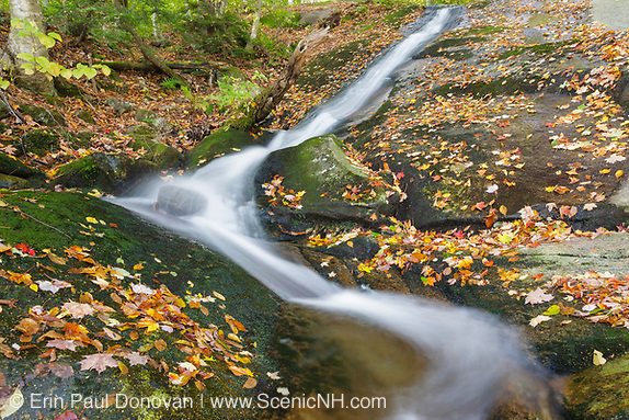 Kinsman Notch - Tributary of Lost River in Woodstock, New Hampshire USA during the autumn months. Kinsman Notch is a great place to explore and hike