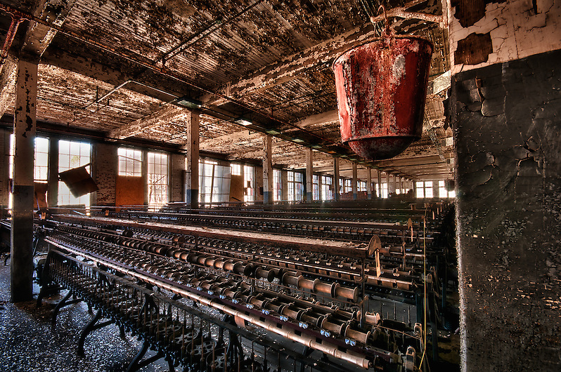 An abandoned silk mill in Maryland. (Walter Arnold)