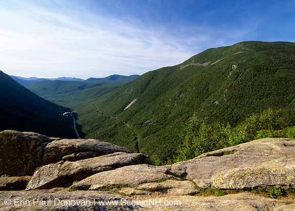 Crawford Notch from Mount Willard in the White Mountains, New Hampshire.